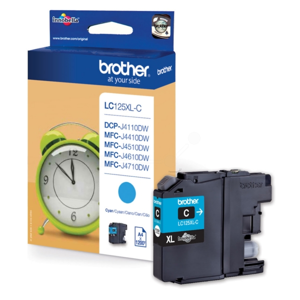 Original Brother LC125XLC Cartouche d'encre cyan