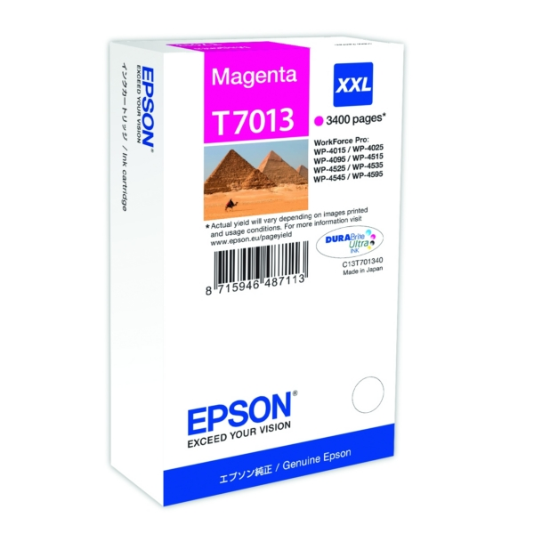 Original Epson C13T70134010 / T7013 Tintenpatrone magenta