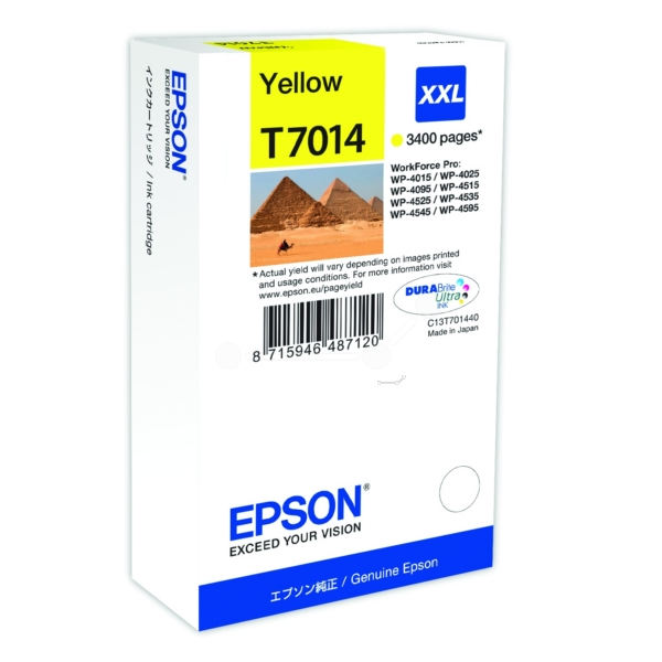 Original Epson C13T70144010 / T7014 Tintenpatrone gelb