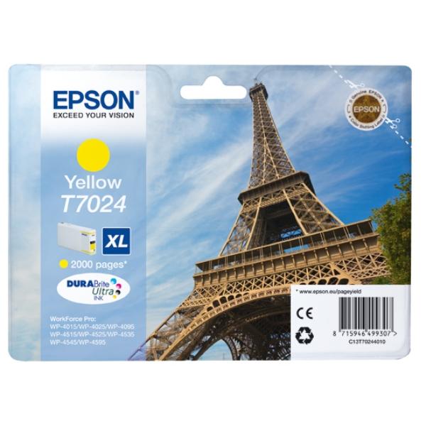 Original Epson C13T70244010 / T7024 Tintenpatrone gelb