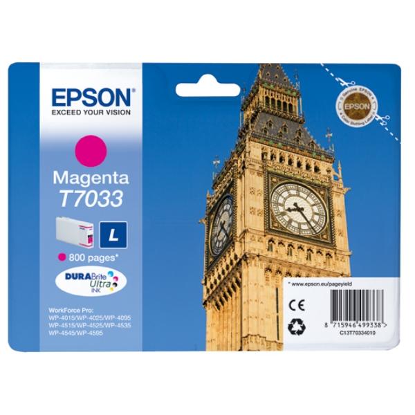 Original Epson C13T70334010 / T7033 Tintenpatrone magenta