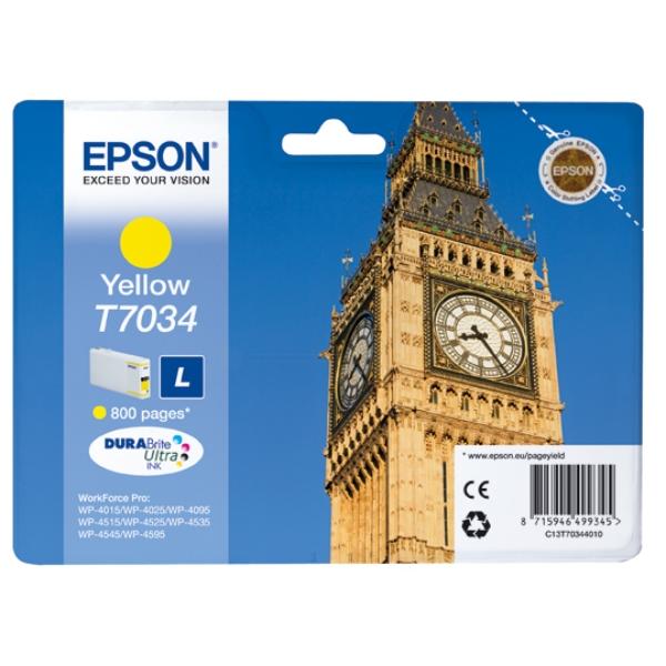 Original Epson C13T70344010 / T7034 Tintenpatrone gelb