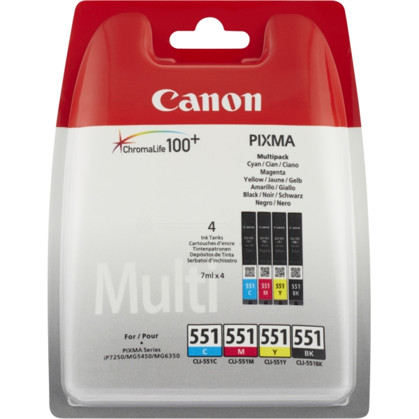 Original Canon 6509B008 / CLI551 Ink cartridge multi pack