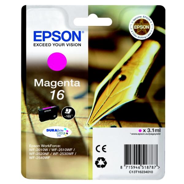 Original Epson C13T16234010 / 16 Tintenpatrone magenta
