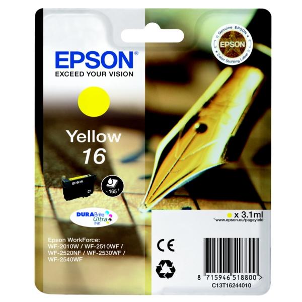Original Epson C13T16244010 / 16 Tintenpatrone gelb