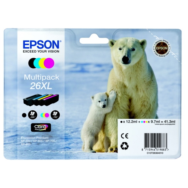 Original Epson C13T26364010 / 26XL Ink cartridge multi pack