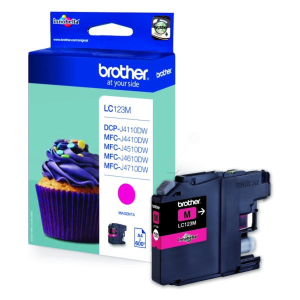 Original Brother LC123M Cartouche d'encre magenta