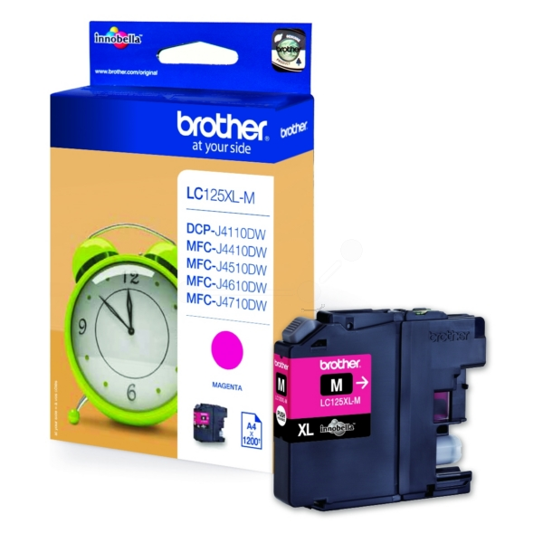 Original Brother LC125XLM Cartouche d'encre magenta