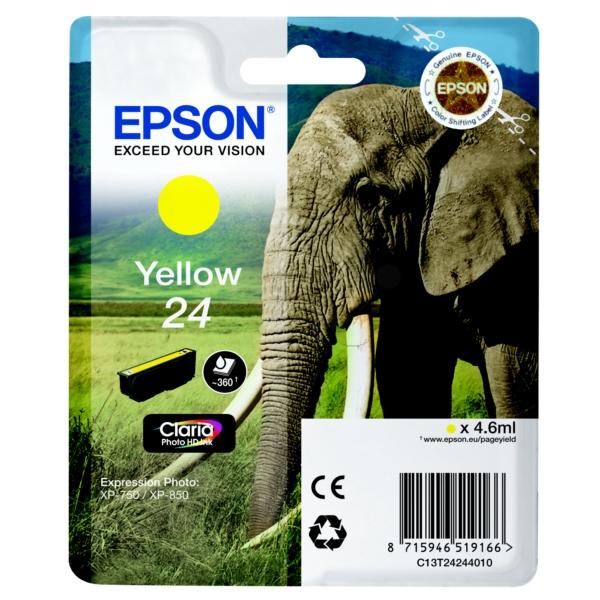 Original Epson C13T24244010 / 24 Tintenpatrone gelb