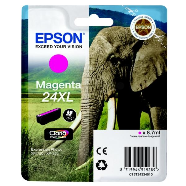 Original Epson C13T24334010 / 24XL Tintenpatrone magenta