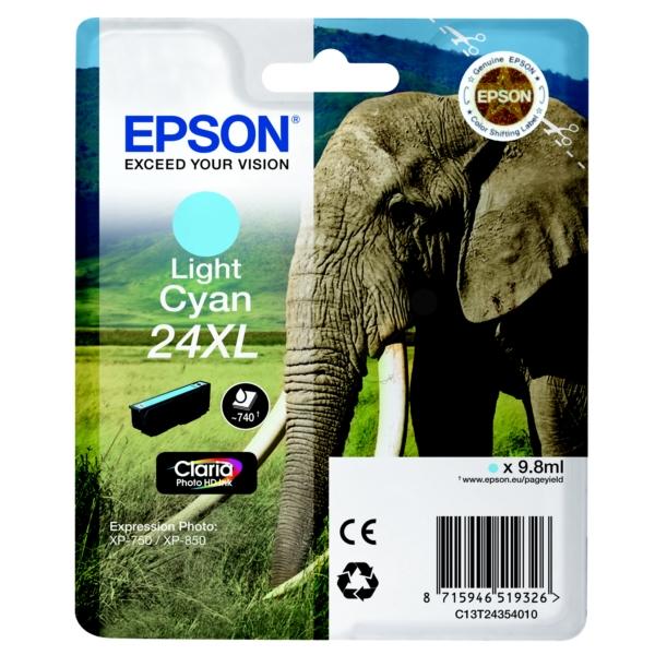 Original Epson C13T24354010 / 24XL Tintenpatrone cyan hell