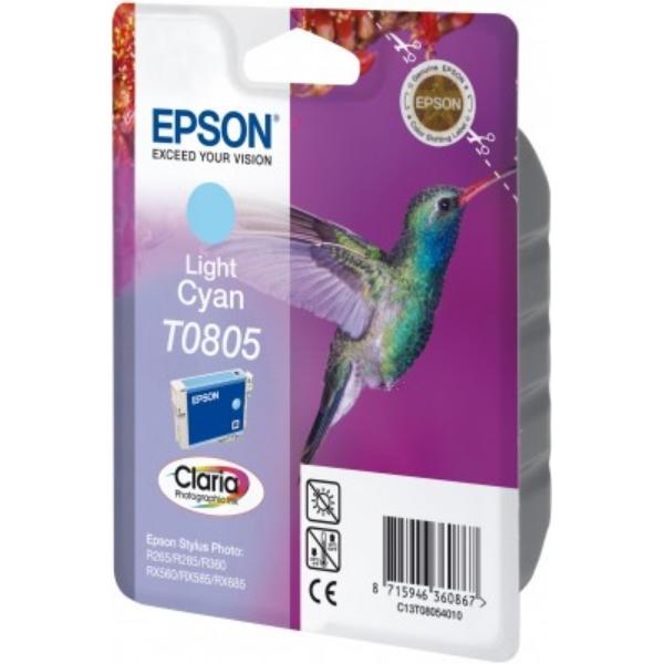 Original Epson C13T08054011 / T0805 Tintenpatrone cyan hell
