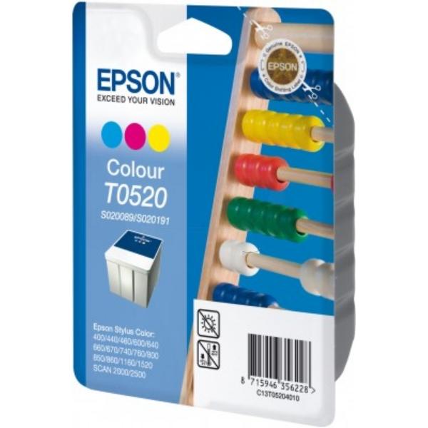 Original Epson C13T05204010 / T0520 Tintenpatrone color