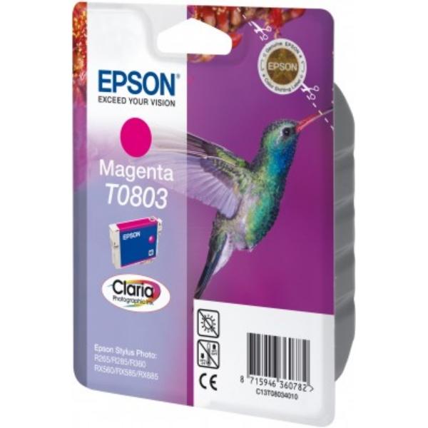 Original Epson C13T08034011 / T0803 Tintenpatrone magenta