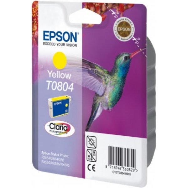 Original Epson C13T08044011 / T0804 Tintenpatrone gelb
