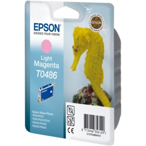 Original Epson C13T04864010 / T0486 Tintenpatrone magenta hell