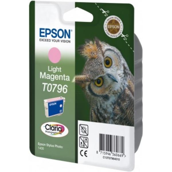 Oryginalny Epson C13T07964010 / T0796 Wklad atramentowy jasna magenta