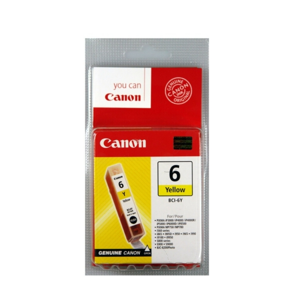 Original Canon 4708A002 / BCI6Y Ink cartridge yellow
