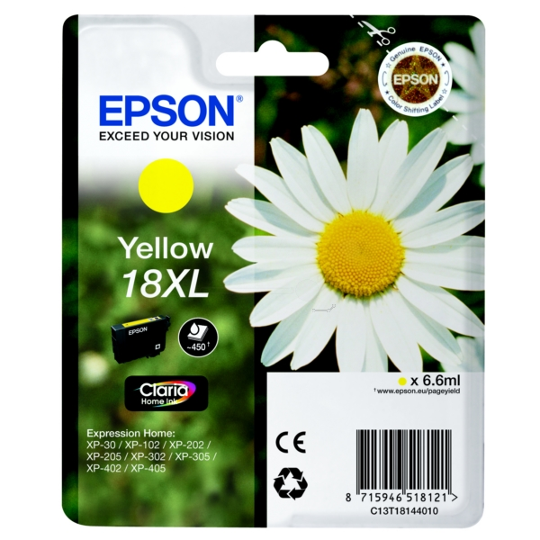 Original Epson C13T18144010 / 18XL Ink cartridge yellow