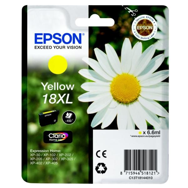 Original Epson C13T18144010 / 18XL Tintenpatrone gelb