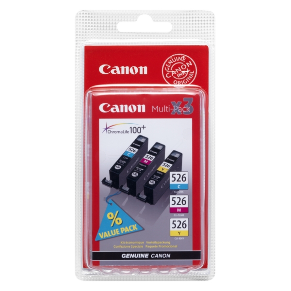 Original Canon 4541B009 / CLI526 Ink cartridge multi pack