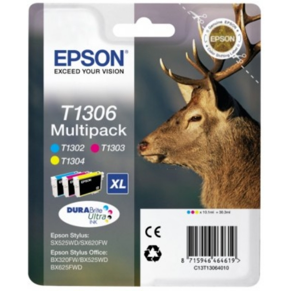 Original Epson C13T13064010 / T1306 Ink cartridge multi pack