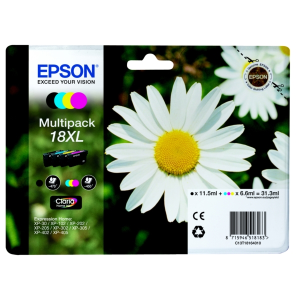 Original Epson C13T18164010 / 18XL Ink cartridge multi pack