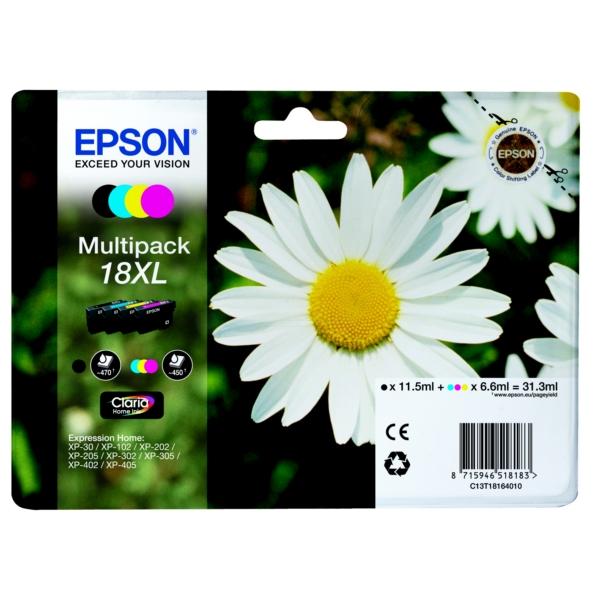 Original Epson C13T18164010 / 18XL Tintenpatrone MultiPack