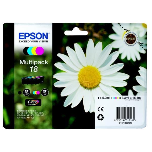 Original Epson C13T18064010 / 18 Tintenpatrone MultiPack