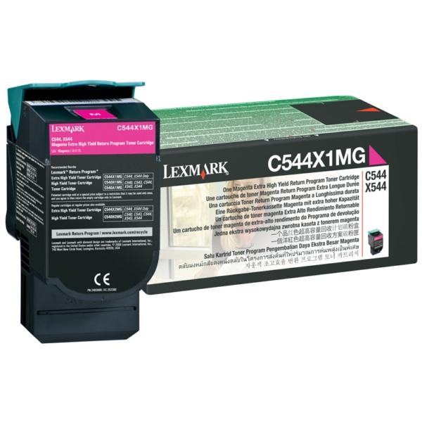 Original Lexmark C544X1MG Tóner magenta