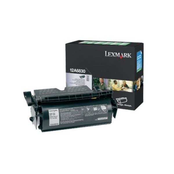 Original Lexmark 12A6830 Tóner negro