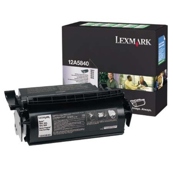 Original Lexmark 12A5840 Toner schwarz