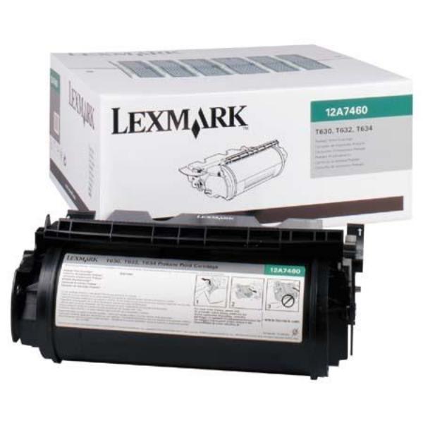 Original Lexmark 12A7460 Toner schwarz