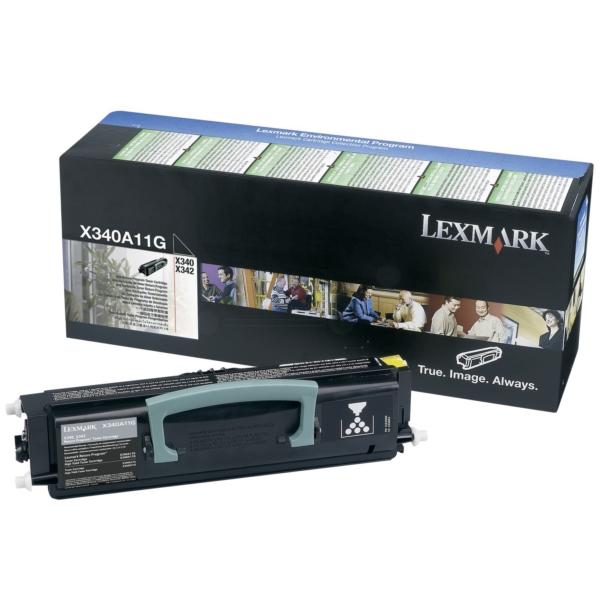 Original Lexmark X340A11G Toner schwarz