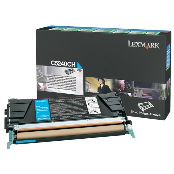 Original Lexmark C5240CH Toner cyan
