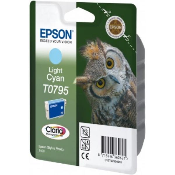 Original Epson C13T07954020 / T0795 Cartouche d'encre cyan claire