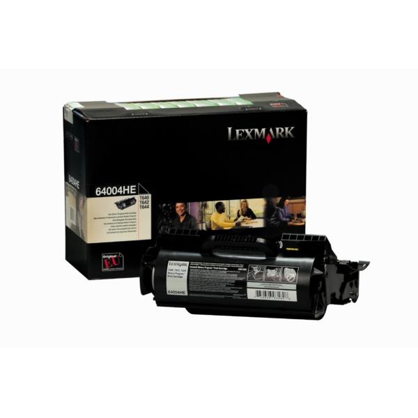 Original Lexmark 64004HE Toner schwarz