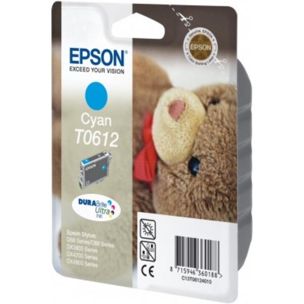 Original Epson C13T06124020 / T0612 Cartouche d'encre cyan