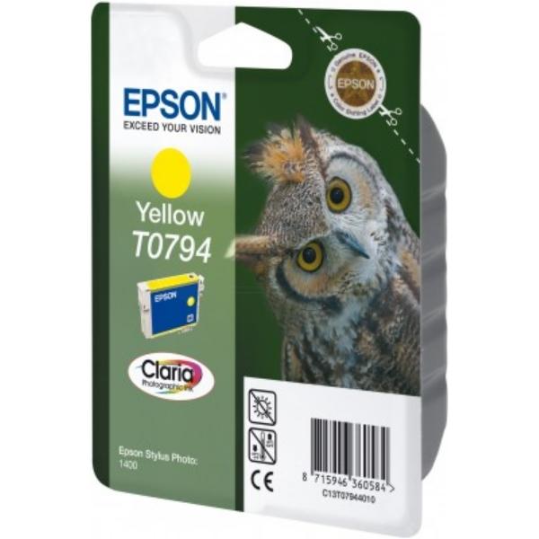 Original Epson C13T07944020 / T0794 Cartouche d'encre jaune
