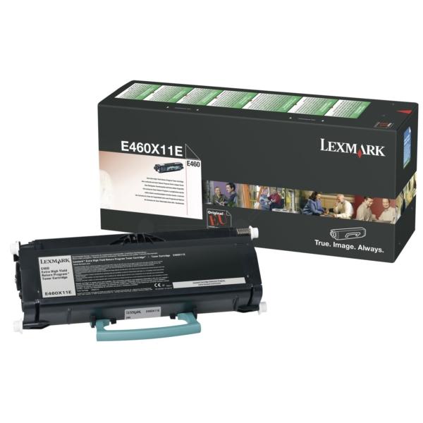 Original Lexmark E460X11E Toner noir
