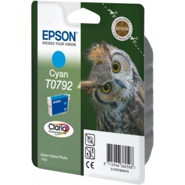 Original Epson C13T07924020 / T0792 Cartouche d'encre cyan