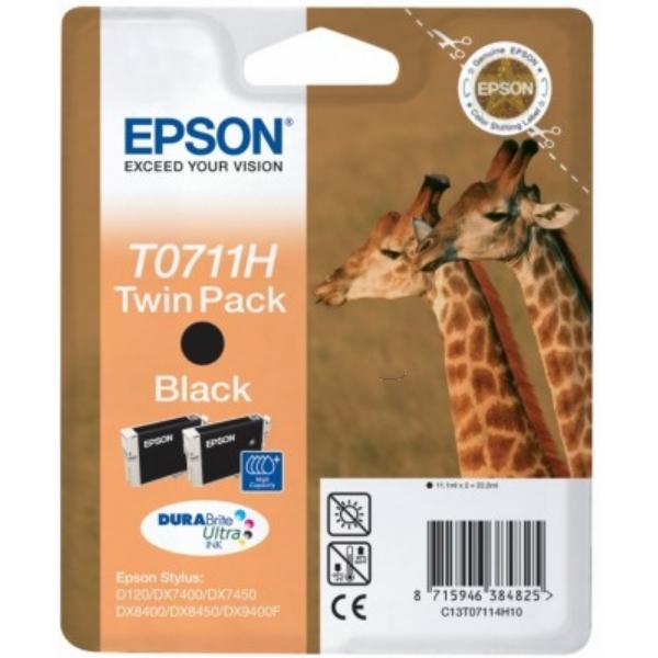 Original Epson C13T07114H20 / T0711H Cartouche d'encre noire