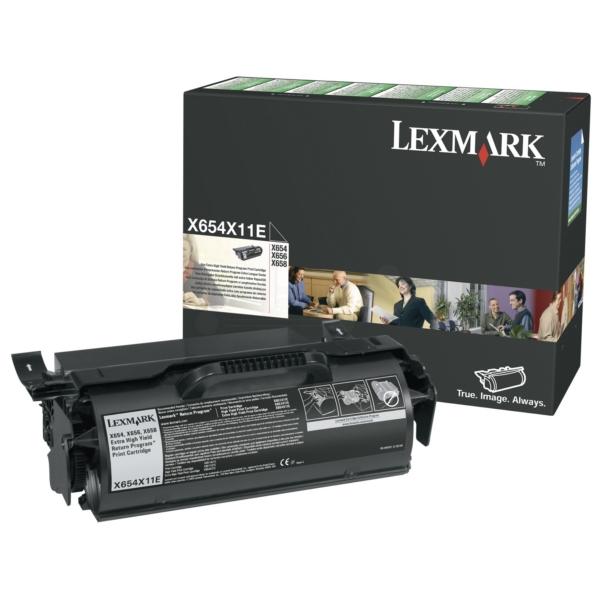Original Lexmark X654X11E Tóner negro