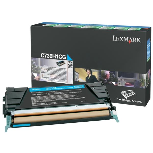 Original Lexmark C736H1CG Toner cyan