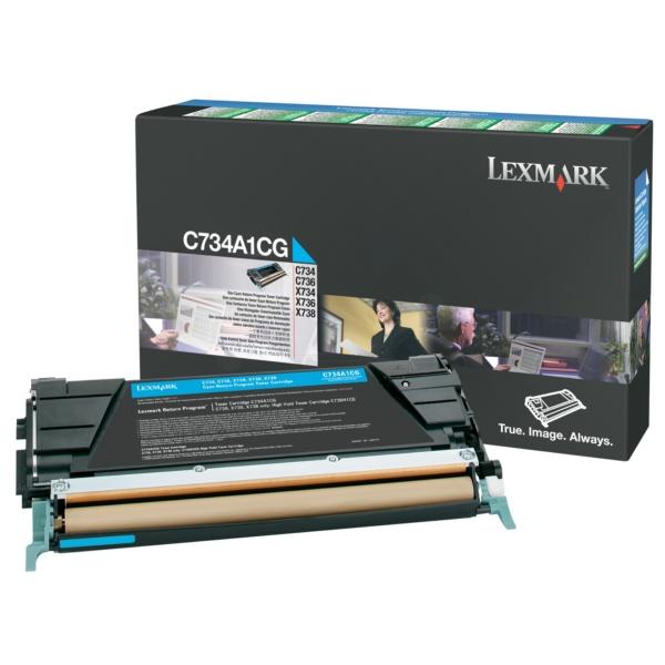 Original Lexmark C734A1CG Toner cyan
