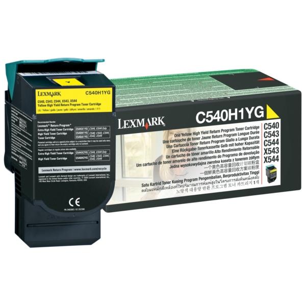 Oryginalny Lexmark C540H1YG Toner zólty