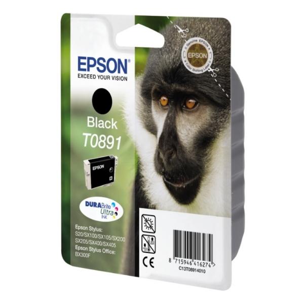 Original Epson C13T08914021 / T0891 Cartouche d'encre noire