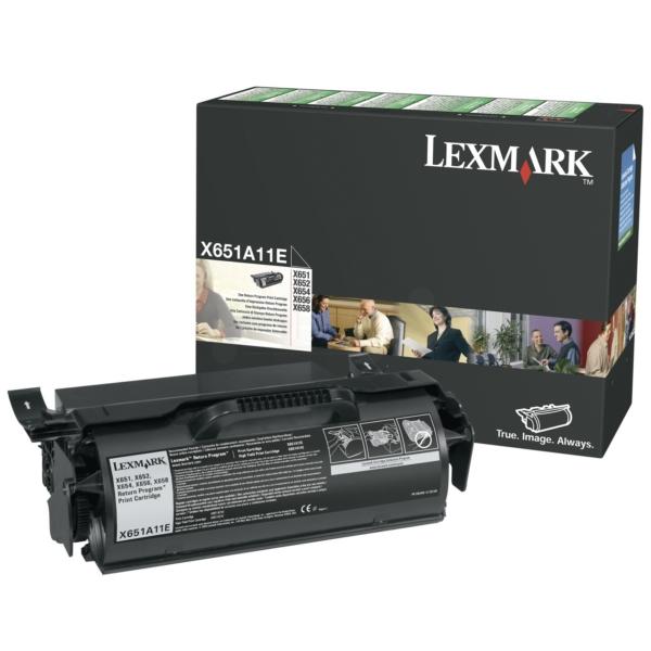 Original Lexmark X651A11E Tóner negro