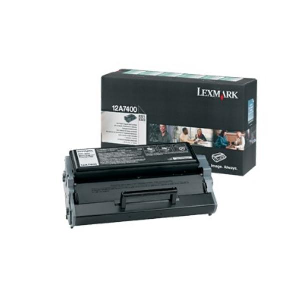 Original Lexmark 12A7400 Toner schwarz