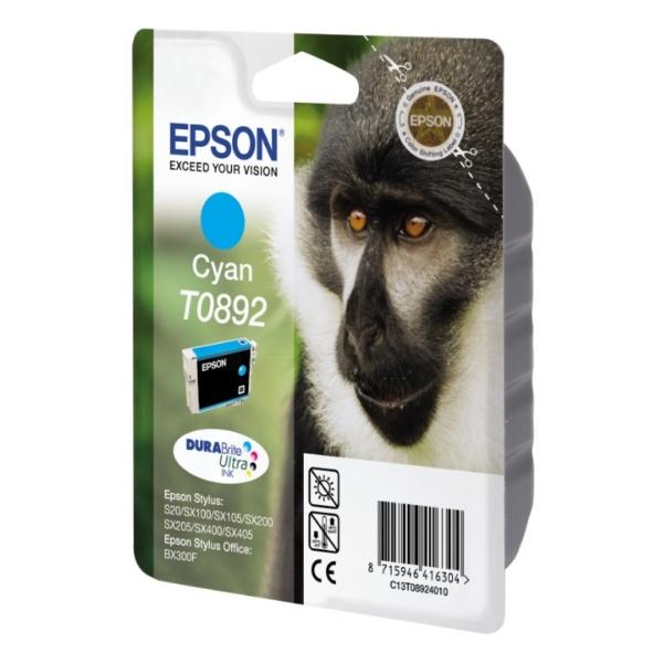 Original Epson C13T08924021 / T0892 Cartouche d'encre cyan